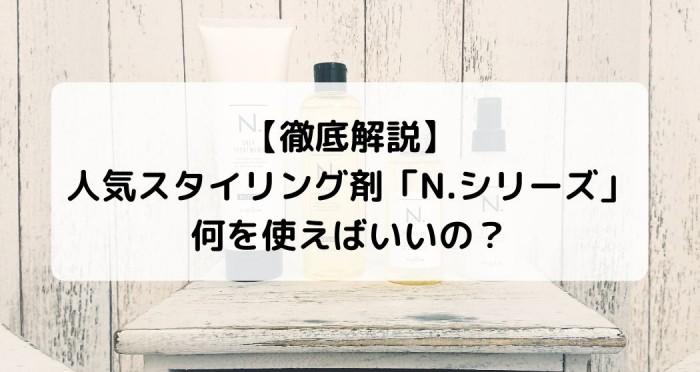 【徹底解説】N.シリーズ、何を使えばいいの?