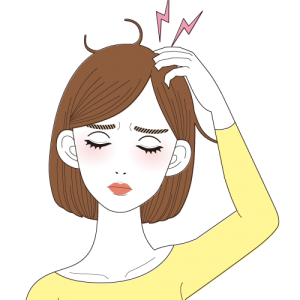 毛の流れによるクセ毛